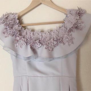 MERCURYDUO - マーキュリーデュオ FlowerモチーフF&Fドレス ライトグレー