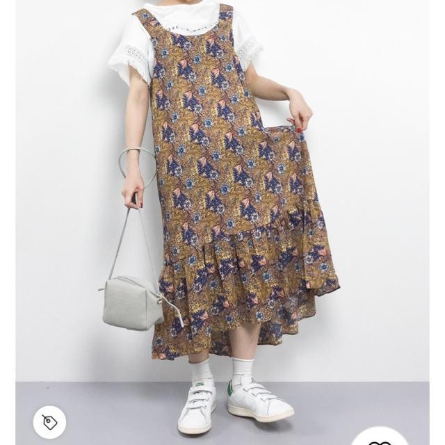 merlot(メルロー)のmerlot ボタニカル マーメイド ジャンパースカート レディースのワンピース(ロングワンピース/マキシワンピース)の商品写真