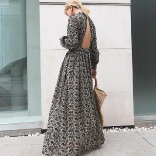 TODAYFUL - AKTE エンブロイダリーバックポイントハイネックドレス