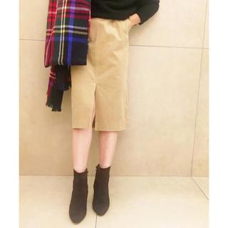 プラージュ(Plage)の【美品】Plage ビアンカラーニコールストレートスカート(ひざ丈スカート)