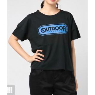 アウトドアプロダクツ(OUTDOOR PRODUCTS)のTシャツ 半袖 ブラック 黒 アウトドア レディース 綿 接触冷感(Tシャツ(半袖/袖なし))