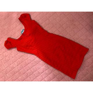 レッド タイト ドレス(ナイトドレス)