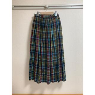 ローリーズファーム(LOWRYS FARM)のチェックマキシスカート(ロングスカート)