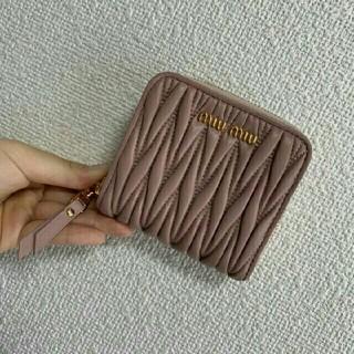 miumiu -  miumiu ミュウミュウ マテラッセ レザー ミニ財布 二つ折り財布