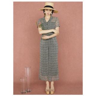 しまむら - 美品♡2pink八木アリサ着用 シフォンレオパード柄オールインワン
