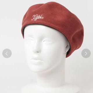 エックスガール(X-girl)のXGIRL ハンチング ベレー帽(ハンチング/ベレー帽)