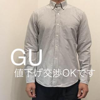 GU - メンズ シャツ GU グレー Mサイズ 美品*