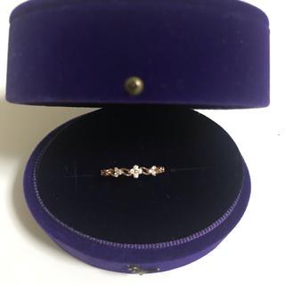 クミキョク(kumikyoku(組曲))の【kumikyoku jewelry】K10ピンクゴールド ダイヤリング(リング(指輪))
