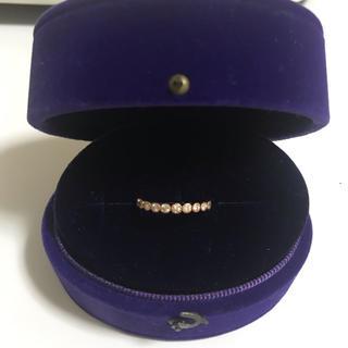 クミキョク(kumikyoku(組曲))の【kumikyoku jewelry】K10PGミル打ちダイヤハーフエタニティ(リング(指輪))