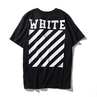 オフホワイト(OFF-WHITE)のOFF WHITE オフホワイト Tシャツ 半袖 サイズXL 黒(Tシャツ/カットソー(半袖/袖なし))