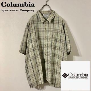 Columbia - 古着 90's Columbia ワンポイントタグ チェックシャツ ビッグサイズ