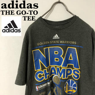 adidas - 古着 adidas THE GO-TO TEE デカロゴ プリント Tシャツ