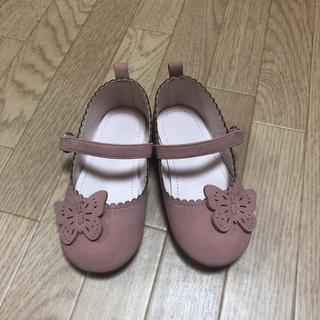 エイチアンドエム(H&M)のH&M 14cm 蝶々 パンプス(フラットシューズ)