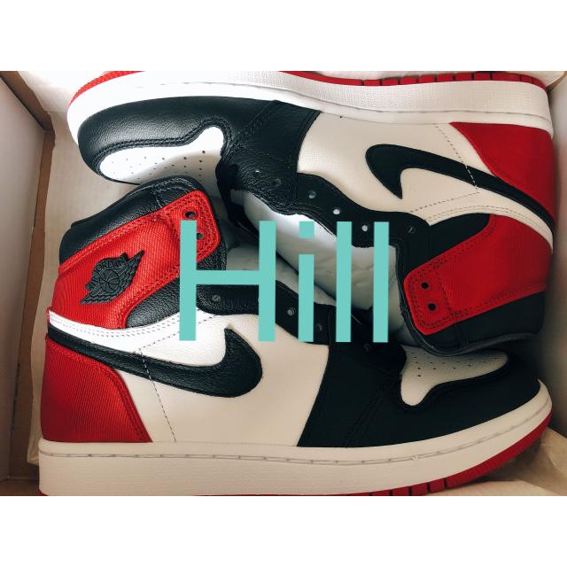 NIKE(ナイキ)のnike air jordan1 og satin BLACK TOE eu39 レディースの靴/シューズ(スニーカー)の商品写真