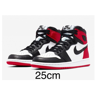 NIKE - nike air jordan1 og satin BLACK TOE eu39