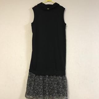 merlot - 美品☆裾ふんわり柄パーカーロングワンピース