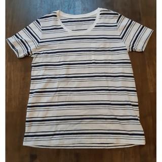 ムジルシリョウヒン(MUJI (無印良品))の無印良品 ボーダーTシャツ 半袖 L(Tシャツ(半袖/袖なし))