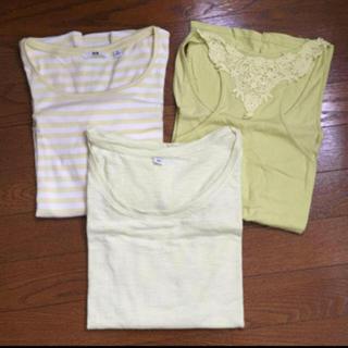 ユニクロ(UNIQLO)のユニクロ イエロー系 トップス カットソー Tシャツ キャミソール 3点セット(Tシャツ(半袖/袖なし))