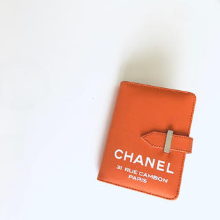 CHANEL - システムリング手帳 小 オレンジ ノベルティ