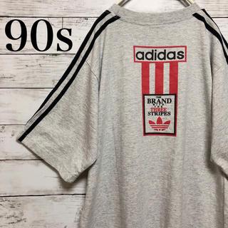 adidas - 【レア】90s 古着 アディダス トレフォイル ブランドロゴ Tシャツ M