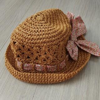 アカチャンホンポ(アカチャンホンポ)のベビー 帽子 女の子 リボン 花柄(帽子)