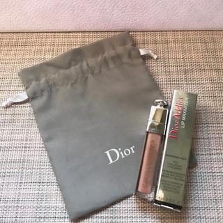ディオール(Dior)の【限定色・新品】Dior リップ マキシマイザー  013 & 巾着ポーチ(リップグロス)