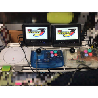 プレイステーション(PlayStation)のツインモニター付き!psone ミニアケコンセット!(家庭用ゲーム機本体)