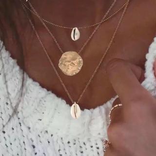 アリシアスタン(ALEXIA STAM)の大人気 カウリーシェル 貝殻 モチーフ ネックレス 3本セット(ネックレス)