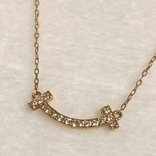 k18 スマイル ダイヤモンド ネックレス