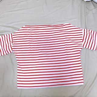 赤ボーダー ボートネックT(Tシャツ(半袖/袖なし))