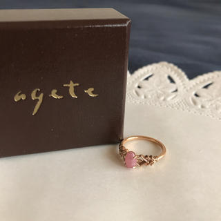 アガット(agete)のアガット インカローズ K10 ピンキーリング(リング(指輪))