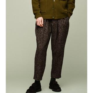 COMOLI - sayatomo Karusan Tweed Slacks BROWN