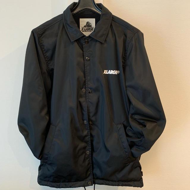 XLARGE(エクストララージ)のゆうさん【XLARGE】コーチJKT ブラック メンズのジャケット/アウター(ナイロンジャケット)の商品写真