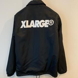 エクストララージ(XLARGE)のゆうさん【XLARGE】コーチJKT ブラック(ナイロンジャケット)