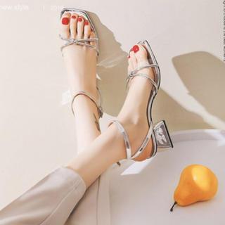 アメリヴィンテージ(Ameri VINTAGE)のsilver sandal(サンダル)