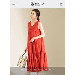 ナノユニバース(nano・universe)の完売新品タグ 19SS コットンボイルワンピース nano ナノユニバース(ロングワンピース/マキシワンピース)