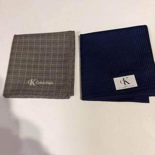 カルバンクライン(Calvin Klein)のCK  カルバン・クライン  ハンカチ2枚セット(ハンカチ/ポケットチーフ)