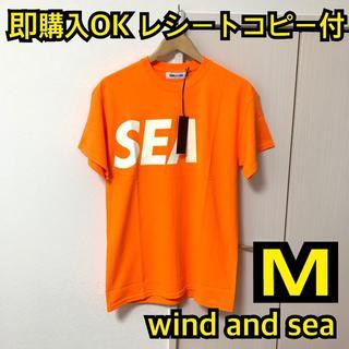 Supreme - 即購入OK タグ付 M wind and sea Tシャツ オレンジ