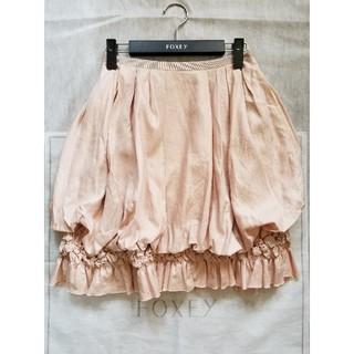 フォクシー(FOXEY)のフォクシー DAISY LIN リネン スカート ピンク 38(ひざ丈スカート)
