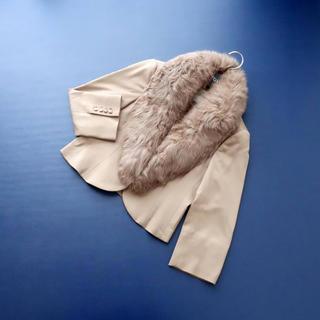 GRACE CONTINENTAL - ■グレースクラス■ 38 ショートジャケット キャメル系 ファー襟
