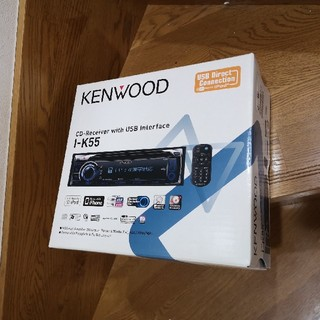 ケンウッド(KENWOOD)の1DINサイズ カーオーディオ I-K55 プジョー接続キット付き(カーオーディオ)