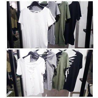 スライ(SLY)のsly バックレースアップTシャツ(Tシャツ(半袖/袖なし))