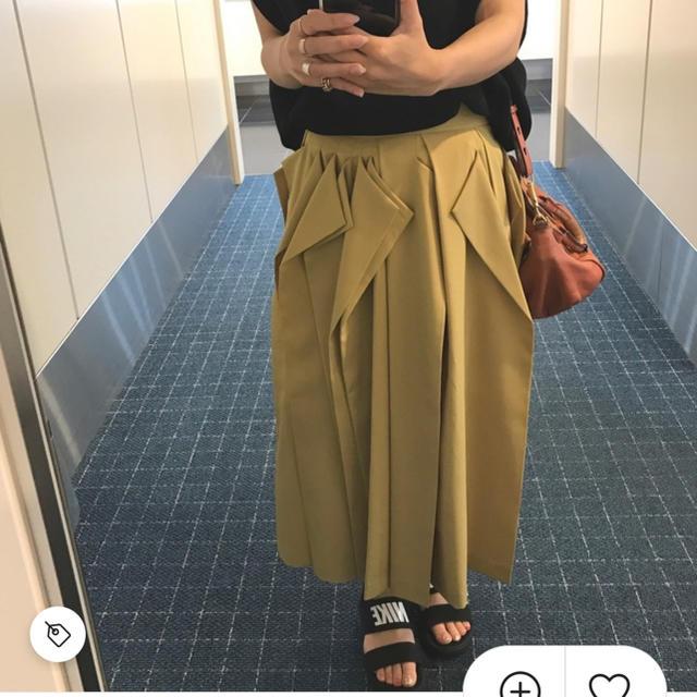 ENFOLD(エンフォルド)のUN3D. オリガミタックスカート レディースのスカート(ロングスカート)の商品写真