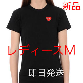 COMME des GARCONS - 即日発送!国内正規品 プレイコムデギャルソン レディース Tシャツ Mサイズ 黒