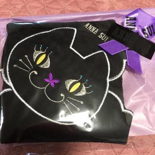 アナスイ(ANNA SUI)のアナスイ タオルハンカチ❤︎ねこ❤︎新品❤︎プレゼント😽黒猫(ハンカチ)