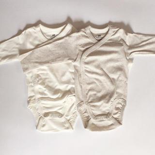 babyGAP - H&M 長袖ロンパース 2枚セット 55サイズ