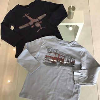 babyGAP - baby gap 乗り物 ロングTシャツ 男の子 大好き used 100cm