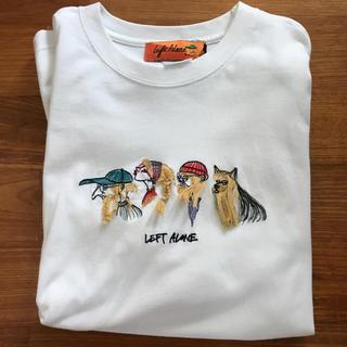 BEAMS - left alone Tシャツ leftalone L 刺繍 レフトアローン
