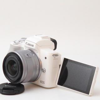 Canon - ⭐️スマホ転送機能付 キヤノン EOS Kiss M レンズキット ホワイト⭐️