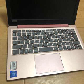 レノボ(Lenovo)のLenovo IdeaPad ピンクパソコン(ノートPC)